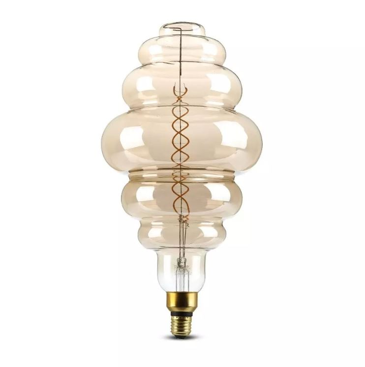 8W S200 LED Smoky Bulb, Double Filament
