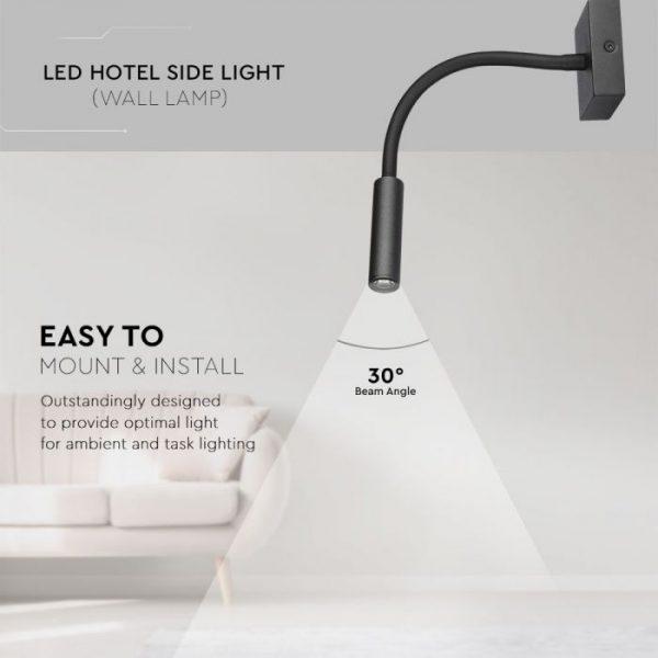 3W LED Hotel Side Light (Wall Lamp)