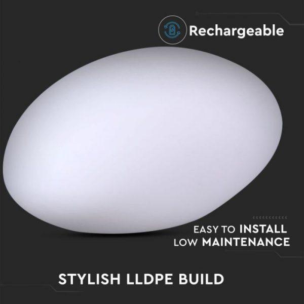 LED Stone Light RGB D:28x21x17cm