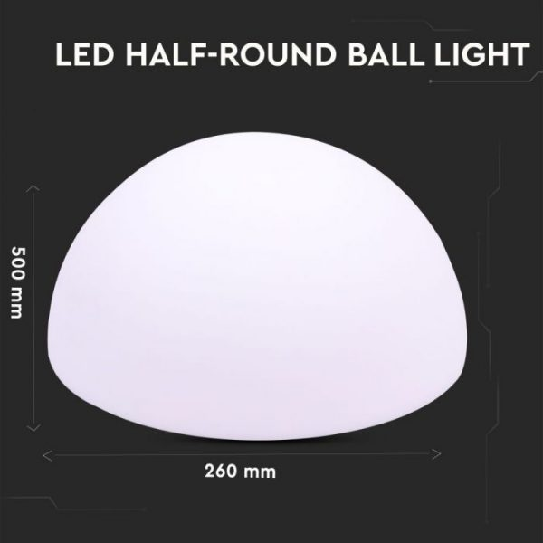 LED Half Round Ball RGB