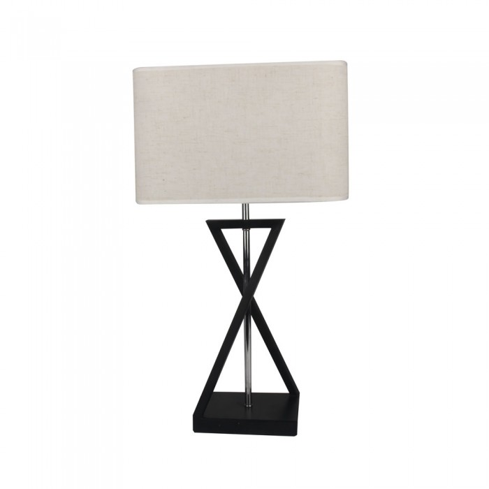 DESIGNER TABLE LAMP WITH IVORY LAMP SHADE-SQUARE