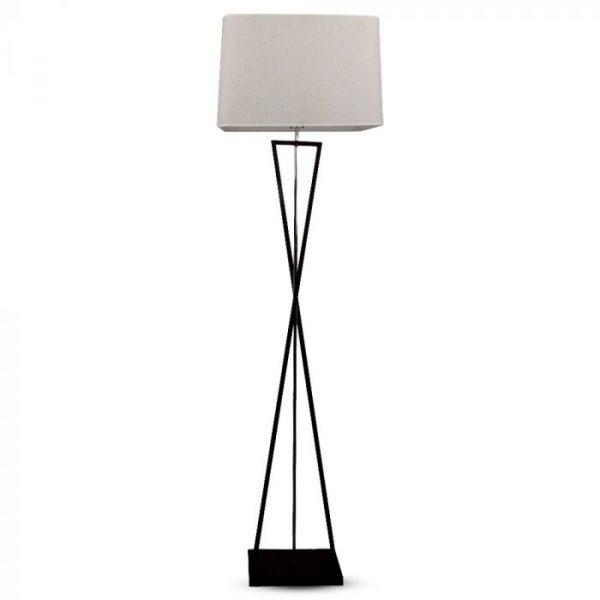 VT-7912 DESIGNER FLOORLAMP WITH IVORY LAMPSHADE-SQ