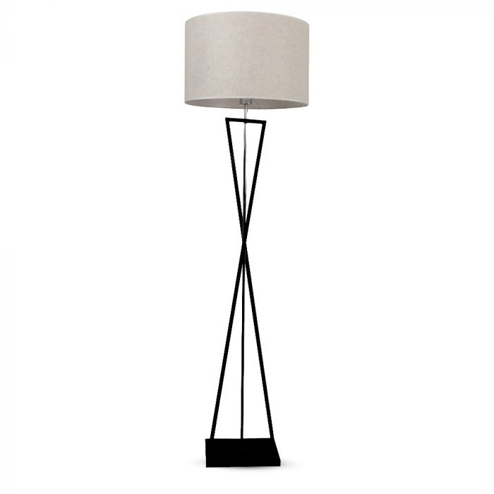VT-7913 DESIGNER FLOORLAMP WITH IVORY LAMPSHADE-RD