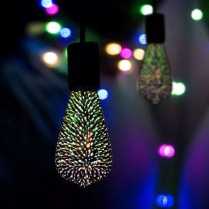 3W ST64 LED 3D Filament Bulb