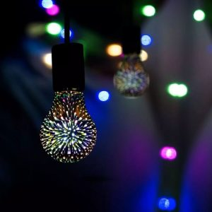 3W A60 LED 3D Filament Bulb
