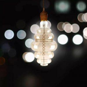 8W S200 LED Smoky Bulb, Double Filament