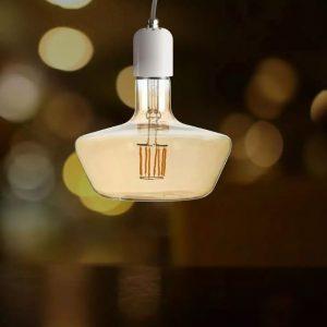 8W T180 LED Filament Bulb Amber Glass