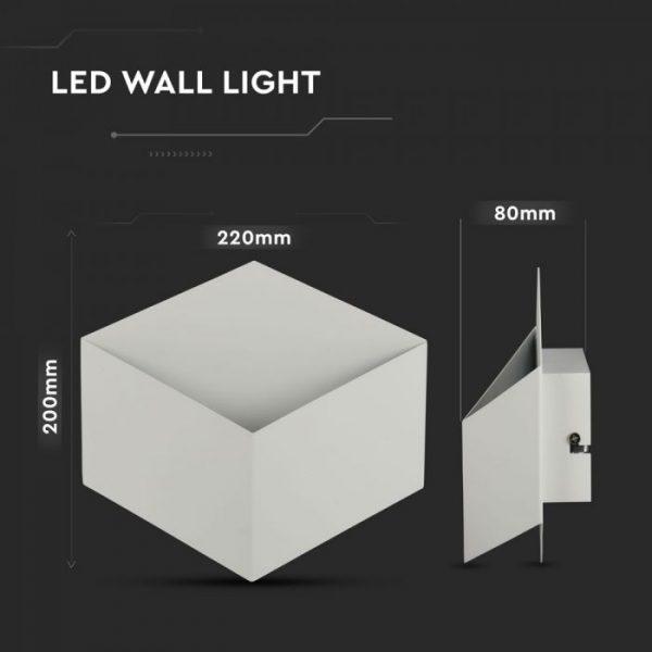 3W Square Bridgelux Wall Lamp IP20