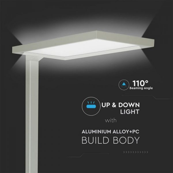 80W LED Floor Lamp (Touch Dimming)