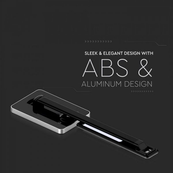 5W LED Table Lamp with Wireless Charger Black-Silver