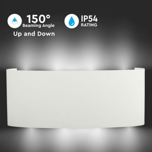 8W Up-Down Led Wall Light IP54