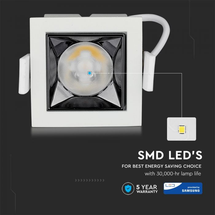 4W LED Reflector Downlight 12° Beam Angle with SMD Samsung Chip