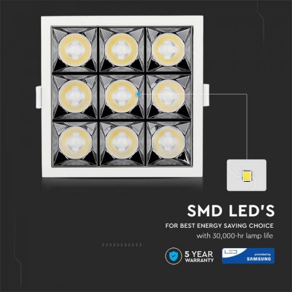 36W LED Reflector Downlight 12° Beam Angle with SMD Samsung Chip