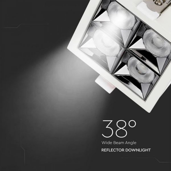 16W LED Reflector Downlight 38° Beam Angle with Samsung Chip