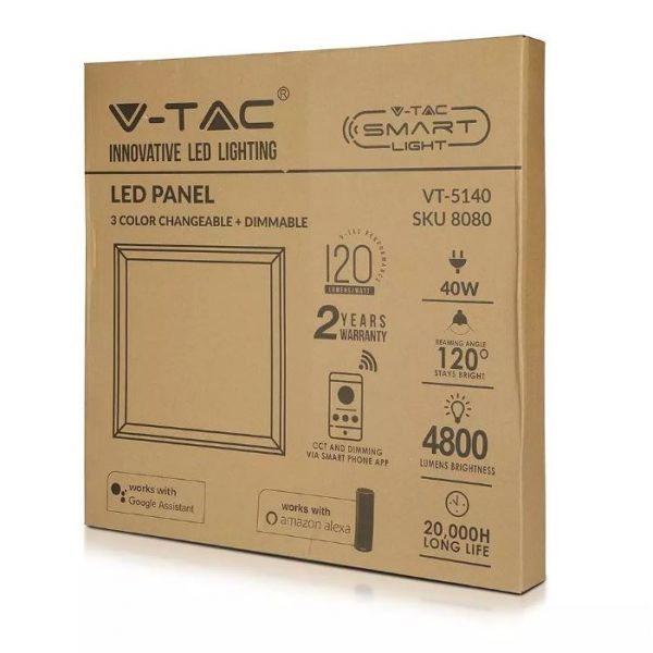 LED Smart Panel 40W 600 x 600mm CCT 3in1