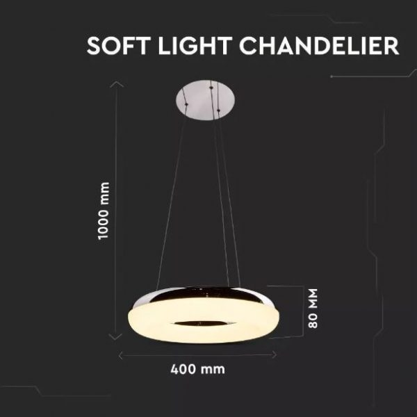 40W Soft Light Chandelier Warm White
