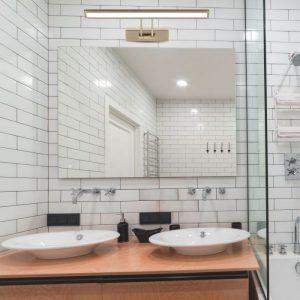8W LED Mirror Movable Lamp Chrome/ Golden 45cm