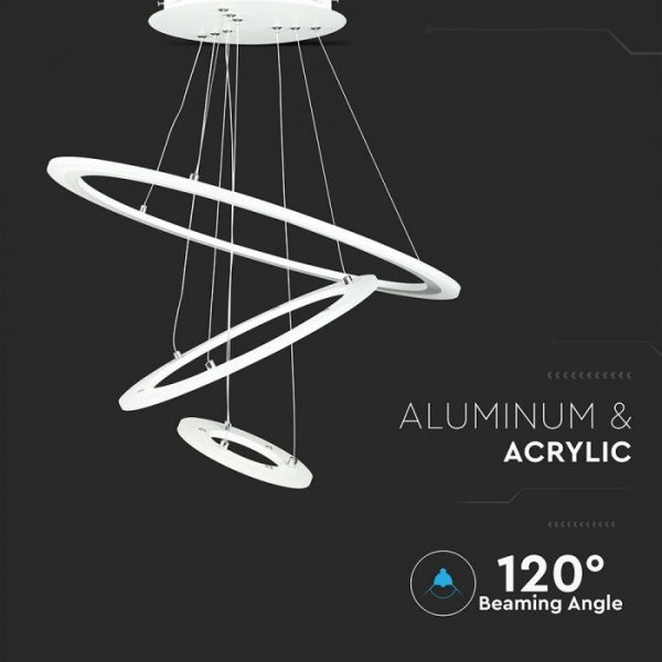70W Soft Light Chandelier Slim 3 Step Dimmable