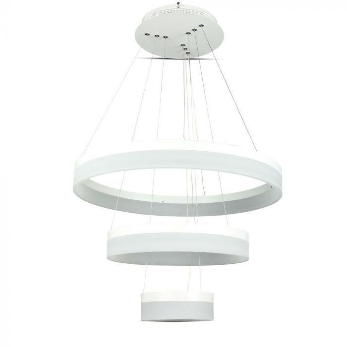 80W 3 Step Chandelier Slim Dimmable White
