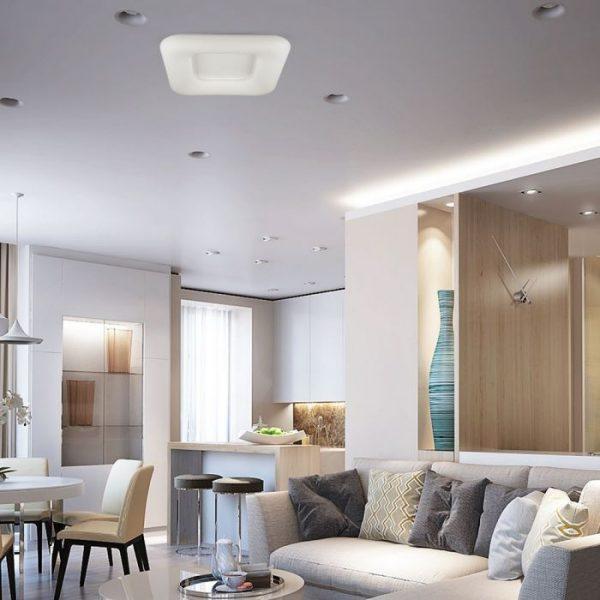 26W LED Designer Surface Pendant Square - CCT 3in1 D:300*300*80 White