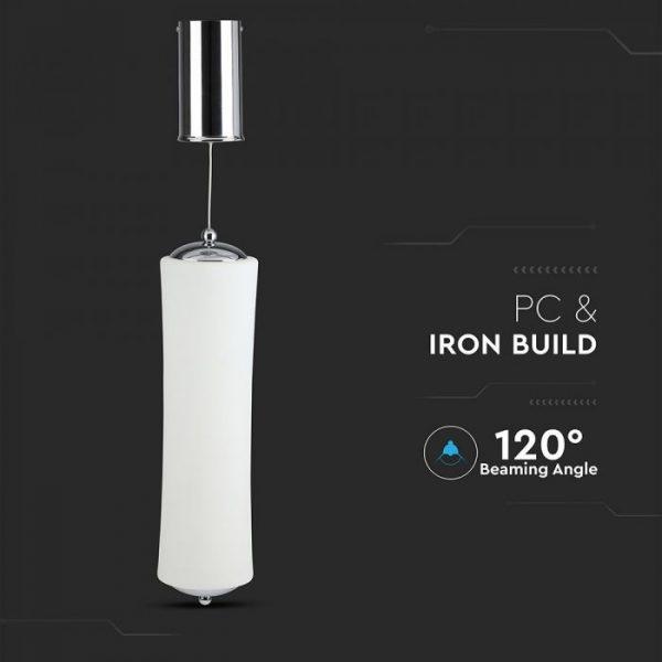 18W LED Designer Double Long Pendant Triac Dimmable White 3000K