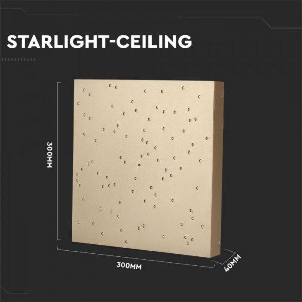 8W LED Starlight Linkable CCT Gold Body