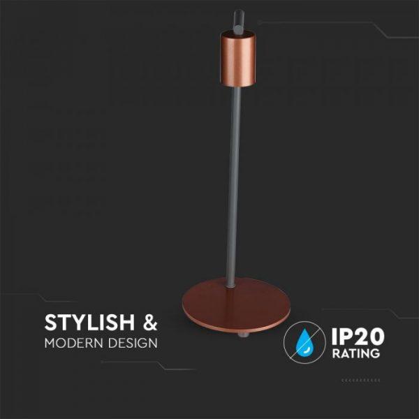 Red Bronzе Designer Table Lamp E27 Holder