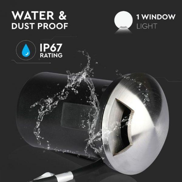 12V MR16 Underground Fitting - One window