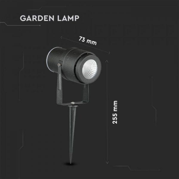 Black LED Garden Light
