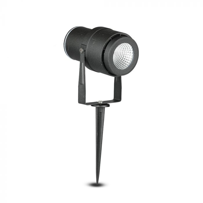 12W LED Garden Spike Lamp Black Body 3000K