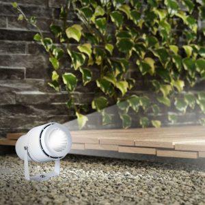 12W LED Garden Spike Lamp White Body