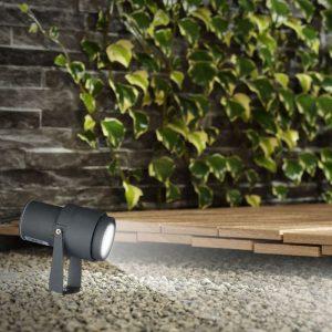 12W LED Garden Spike Lamp Grey Body