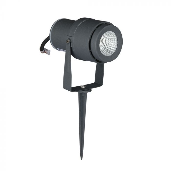 12W LED Garden Spike Lamp Grey Body
