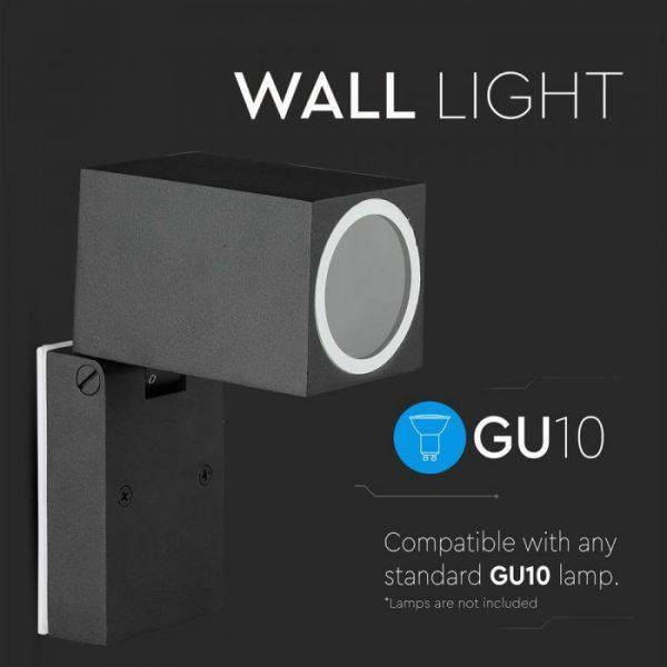 Wall Fitting GU10 Adjustable Head Aluminium 1 Way IP44