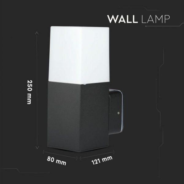 GU10 Garden Wall Lamp Square Black
