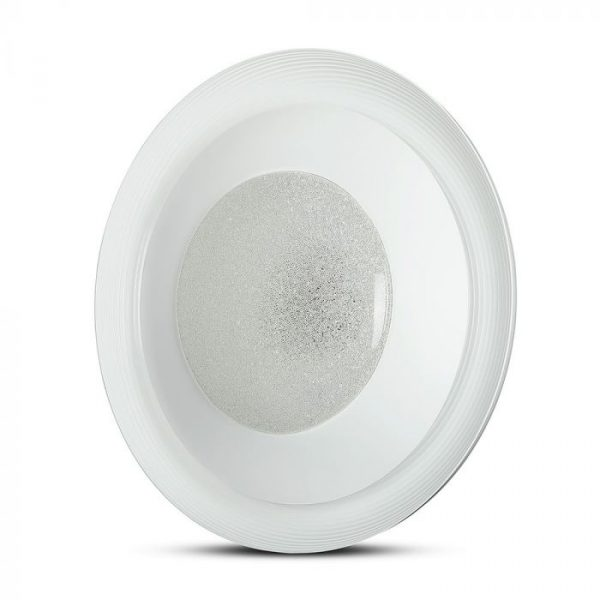 LED 48W Designer Domelight with RF Control and Timer - CCT 3in1 - Crystal Cover