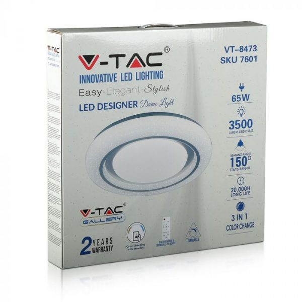 LED 65W Designer Domelight with RF Control and Timer CCT 3in1 - Starry Cover