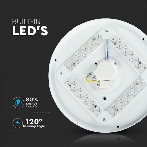 18W LED Dome Light 30cm Starry Cover CCT 3in1 Round