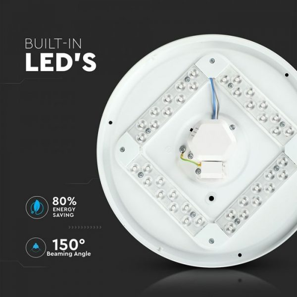 18W LED Dome Light-300mm CCT:3IN1-Round
