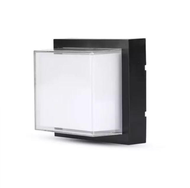 12W LED Wall Light Black Square