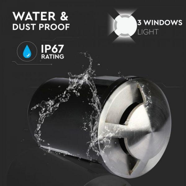 12V MR16 Underground Fitting - Three windows