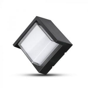 7W LED Wall Light Semi Frame Black Round/ Square