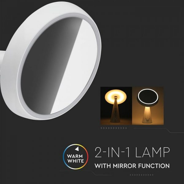 5W LED Rechargeable Mirror Light Dimmable 3000K