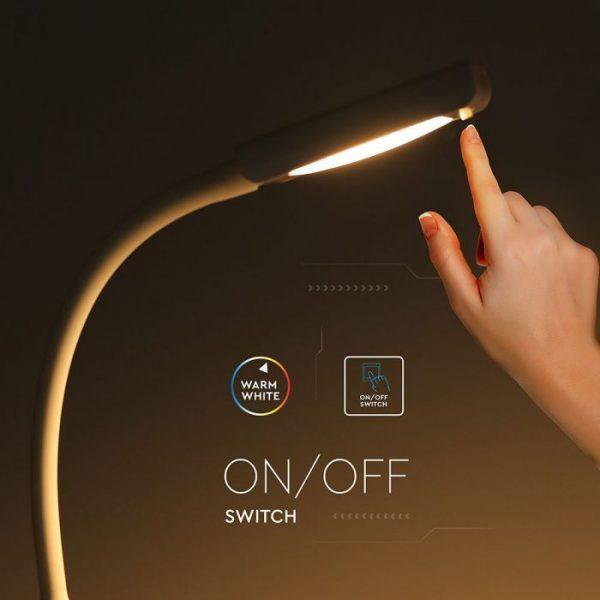 7W LED Clip Lamp White Body 3000K