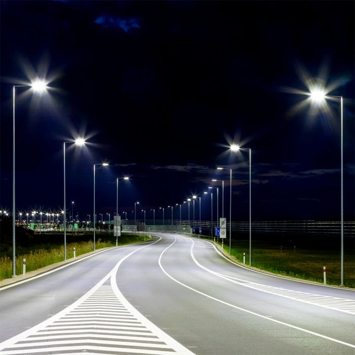 Photocell 30W Led Slim Street Light with Samsung Chip 5 Years Warranty