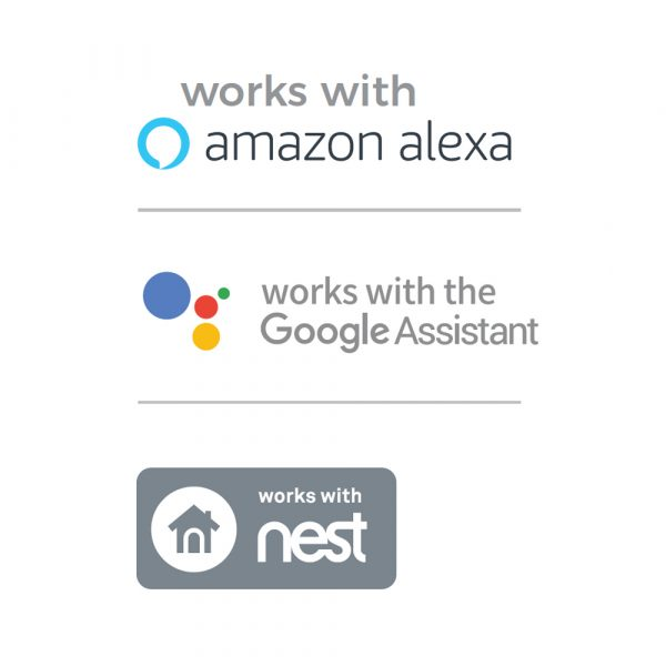 WIFI Touch Switch White (1 Gang) compatible with Amazon Alexa and Google Home