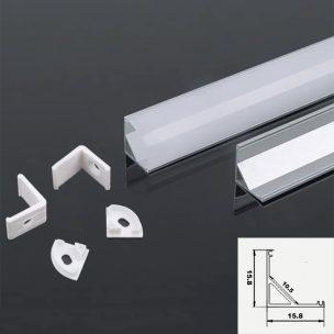 15.8/15.8mm Corner LED profile