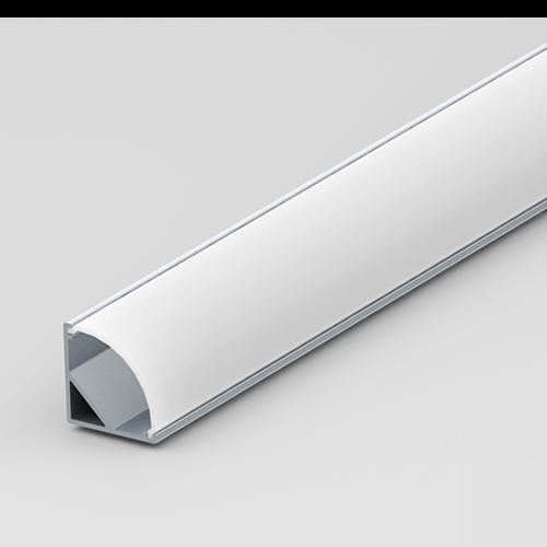 Corner LED Aluminium Profile Set 15.8/15.8mm Milky Diffuser 2m