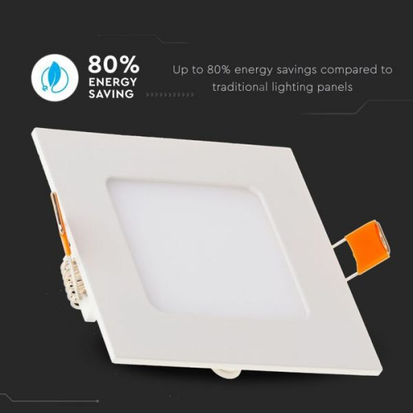 18W LED Recessed Panel with Driver - Square