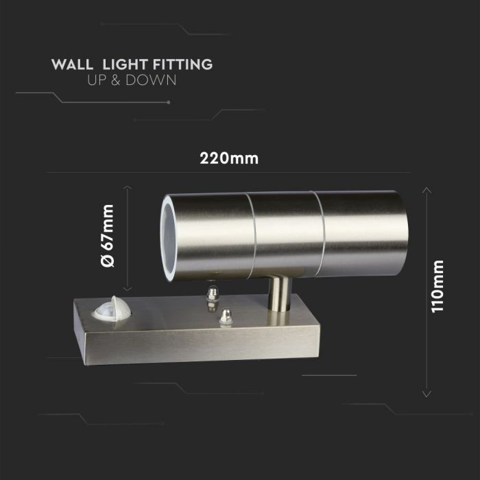 OUTDOOR WALL LIGHT WITH SENSOR Size